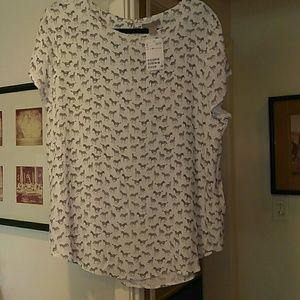 H&M all over Zebra Print dressy shirt
